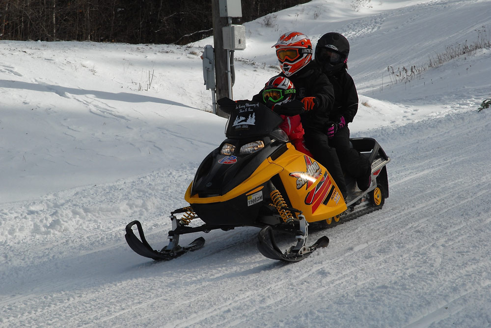 Snowmobiling is part of the celebration at Long Lake Winter Carnival