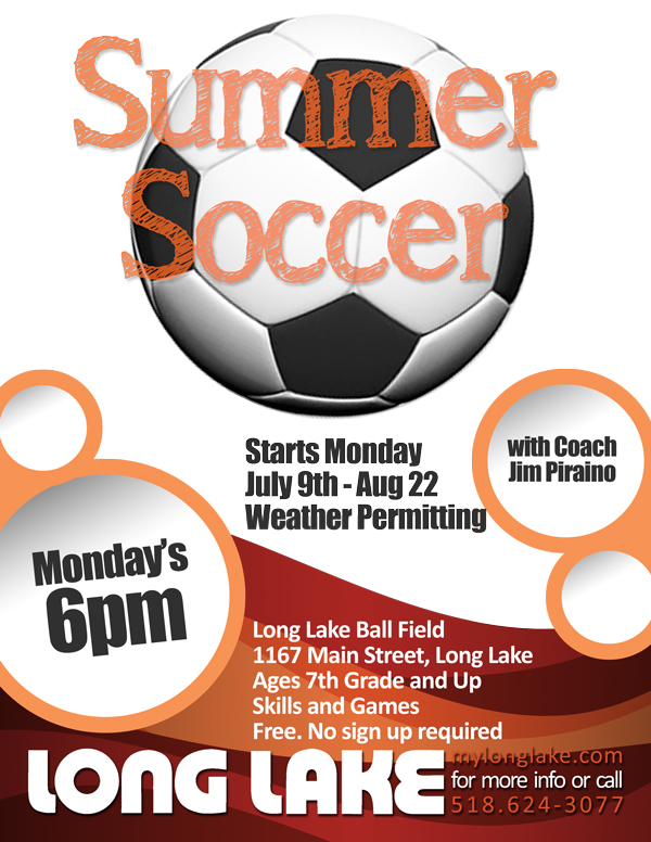 Monday Night Soccer 7pm LL Ballfield
