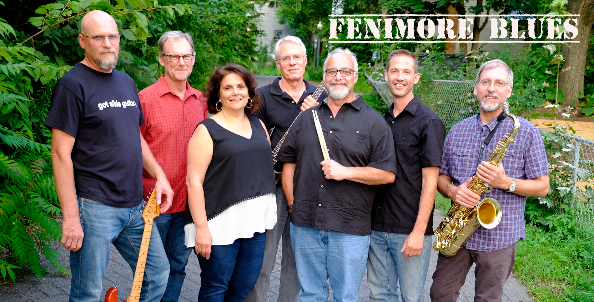 Fenimore Blues perform a live music concert on the Long Lake Town Beach