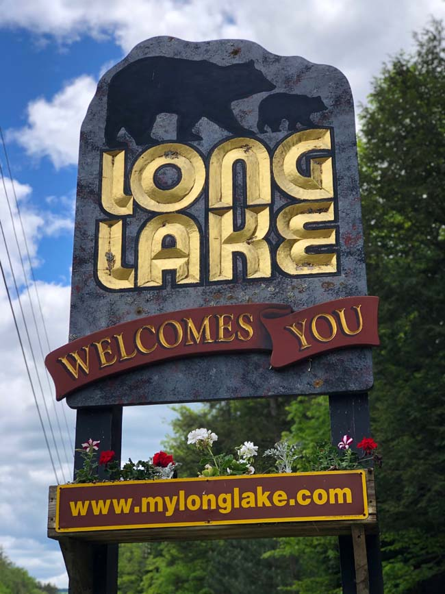Long Lake Welcome Sign