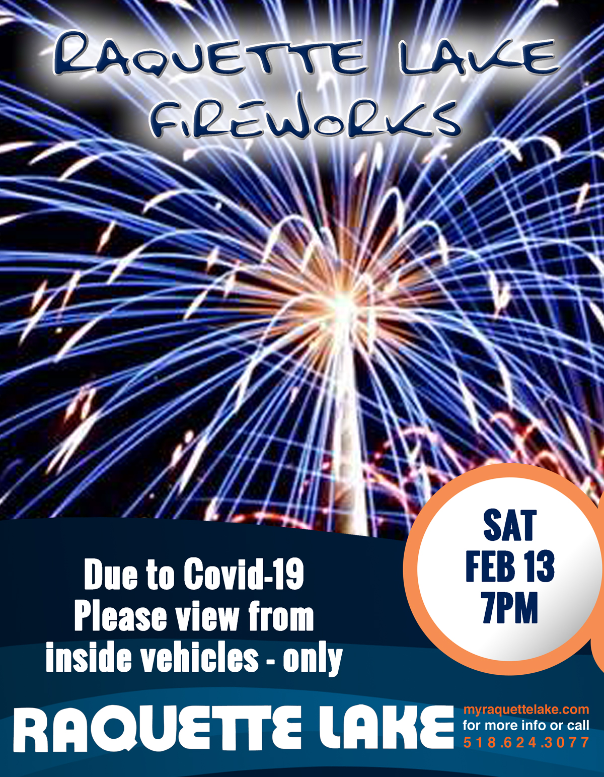 Fireworks February 13 at 7pm