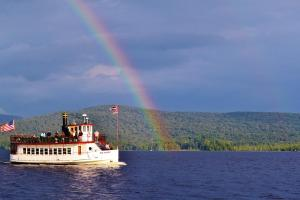 065. LaTemple. Under the Rainbow-Raquette Lake-Our Town